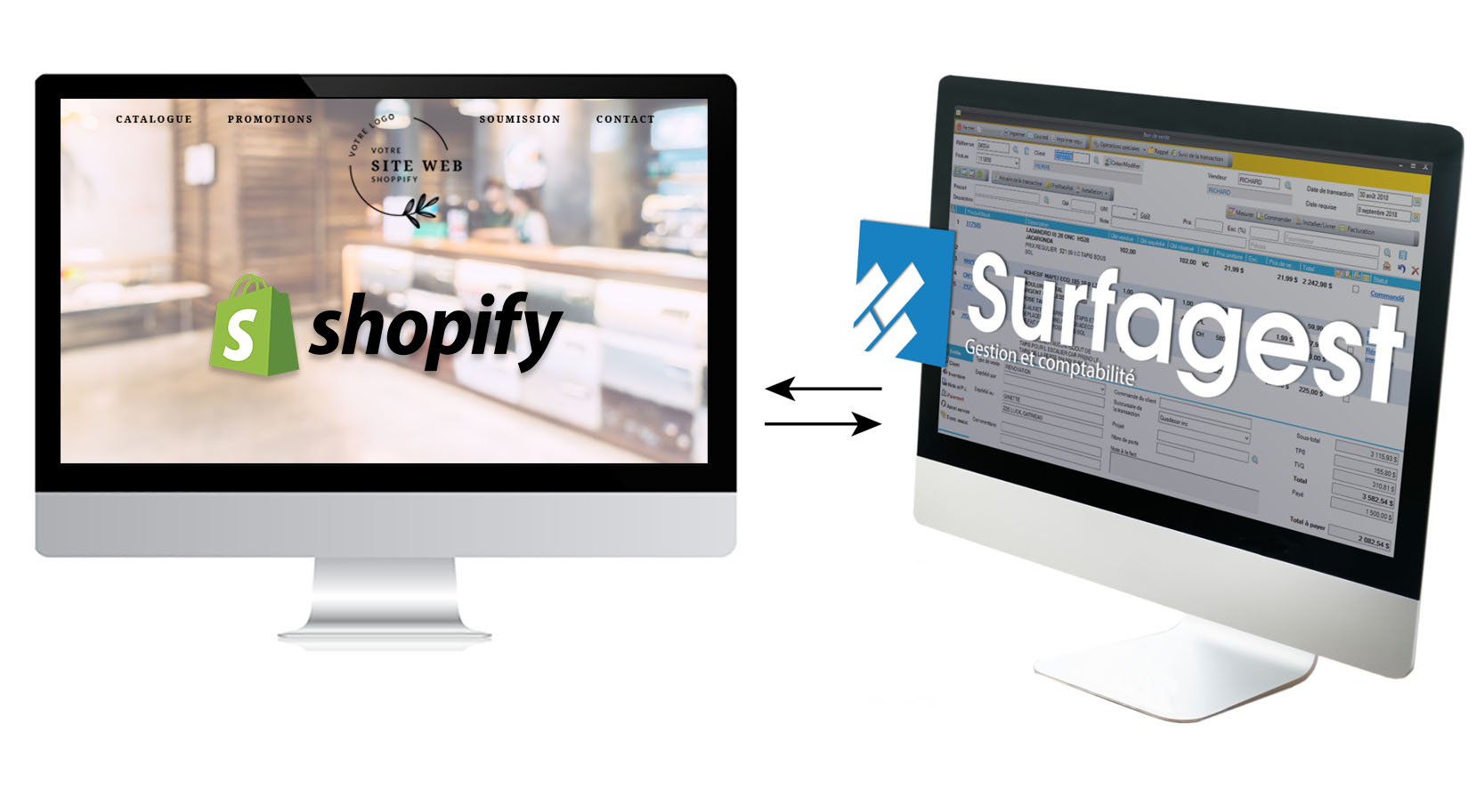 Synchronisation Shopify - Surfagest